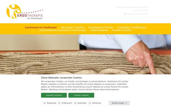 Vorschau von www.ergotherapie-herford.de, Ergotherapiepraxis Marion Fehst-Lippik