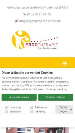 Vorschau der mobilen Webseite www.ergotherapie-herford.de, Ergotherapiepraxis Marion Fehst-Lippik