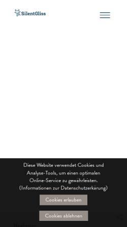 Vorschau der mobilen Webseite www.silentgliss.ch, Silent Gliss AG