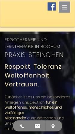 Vorschau der mobilen Webseite www.et-steinchen.de, Praxis für Ergotherapie Thomas Steinchen