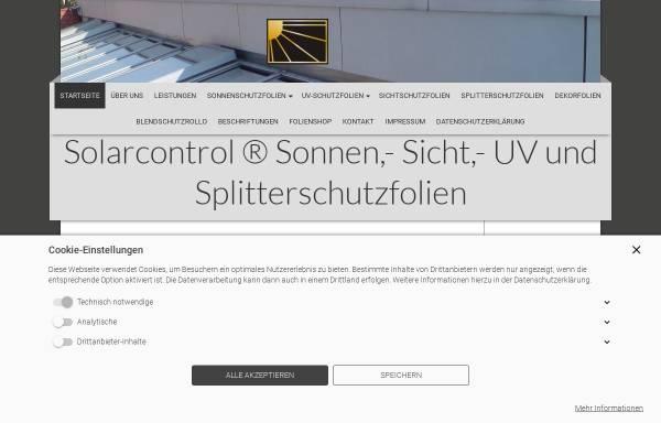 Vorschau von www.solarcontrol.de, Solarcontrol® Sonnen,- Sicht,- Uv und Splitterschutzfolien