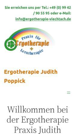 Vorschau der mobilen Webseite www.ergotherapie-viechtach.de, Ergotherapie Praxis Dostert
