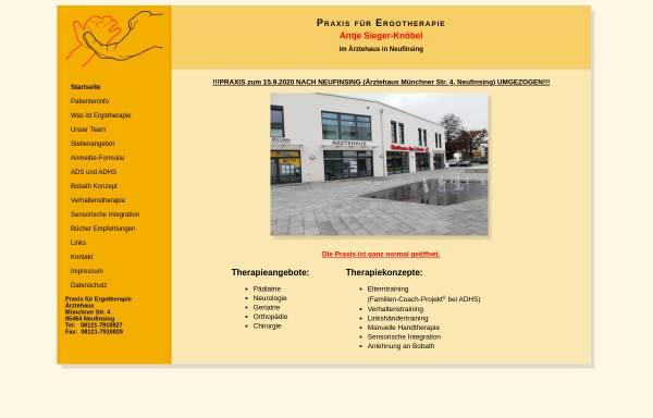 Vorschau von www.ergotherapie-pliening.de, Praxis für Ergotherapie Antje Sieger-Knöbel & Christin Sperberg