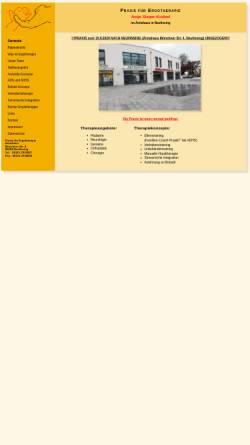 Vorschau der mobilen Webseite www.ergotherapie-pliening.de, Praxis für Ergotherapie Antje Sieger-Knöbel & Christin Sperberg