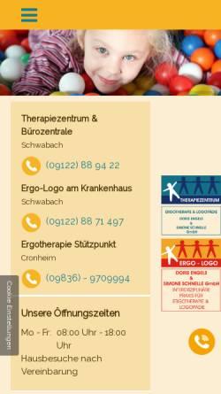 Vorschau der mobilen Webseite www.ergo-logo.info, Praxis für Ergotherapie Doris Engels
