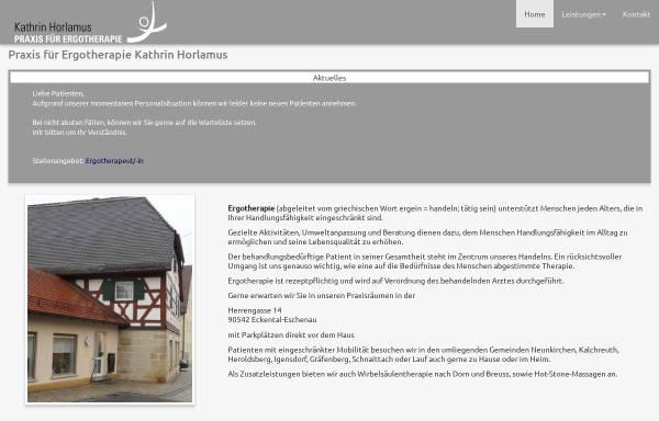 Vorschau von www.eckentaler-ergotherapie.de, Praxis für Ergotherapie Kathrin Horlamus