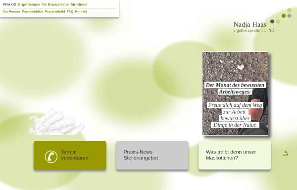 Vorschau von www.ergotherapiepraxis-haas.de, Praxis für Ergotherapie Nadja Haas