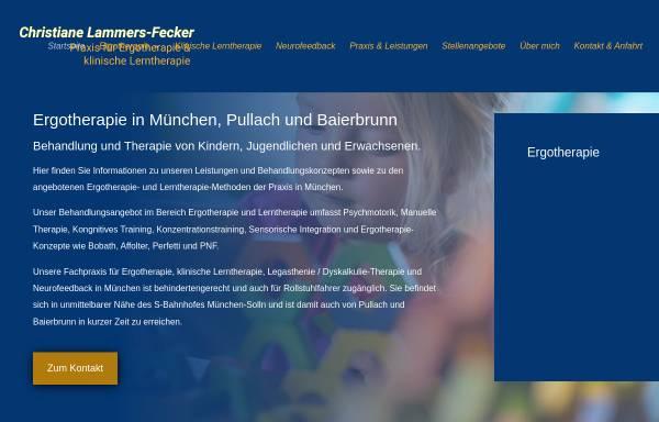 Vorschau von www.ergotherapie-lerntherapie-muenchen.de, Praxis für Ergotherapie und Klinische Lerntherapie Christiane Lammers-Fecker