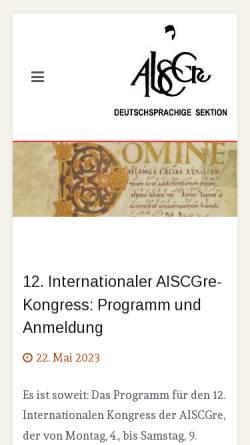 Vorschau der mobilen Webseite www.aiscgre.de, AISCGre