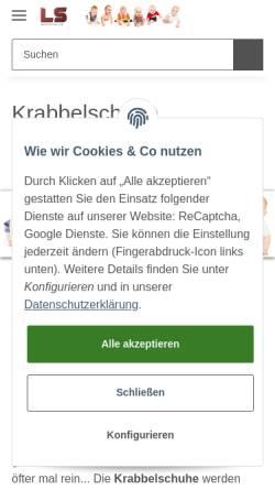 Vorschau der mobilen Webseite www.lederscheune.de, Die Lederscheune, Bettina Persch