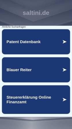 Vorschau der mobilen Webseite www.saltini.de, Saltini , Christian Lippold