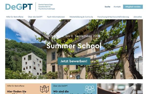 Vorschau von www.degpt.de, Deutschsprachige Gesellschaft für Psychotraumatologie e.V. (DeGPT)