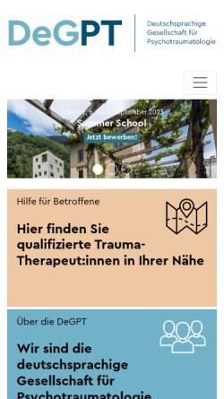 Vorschau der mobilen Webseite www.degpt.de, Deutschsprachige Gesellschaft für Psychotraumatologie e.V. (DeGPT)