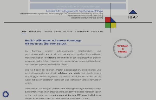 Vorschau von fifap.de, Fachinstitut für Angewandte Traumapsychologie