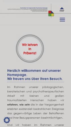 Vorschau der mobilen Webseite fifap.de, Fachinstitut für Angewandte Traumapsychologie