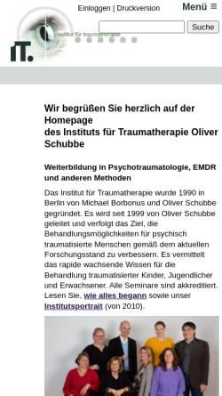 Vorschau der mobilen Webseite www.traumatherapie.de, Institut für Traumatherapie