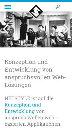 Vorschau der mobilen Webseite www.netstyle.ch, Netstyle.ch GmbH