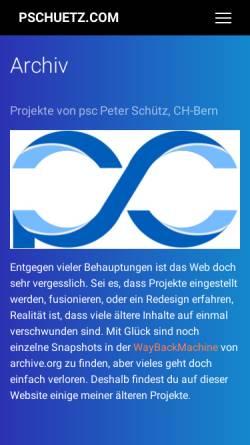 Vorschau der mobilen Webseite www.pschuetz.com, Psc Informatik-Dienstleistungen