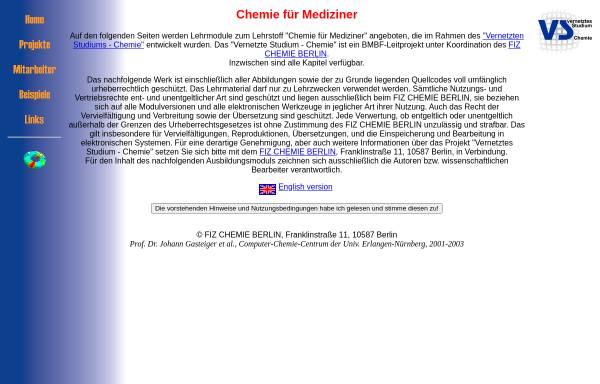 Vorschau von www2.chemie.uni-erlangen.de, VSC Erlangen: Chemie für Mediziner