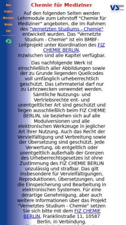 Vorschau der mobilen Webseite www2.chemie.uni-erlangen.de, VSC Erlangen: Chemie für Mediziner