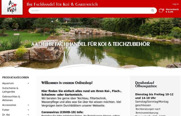 Vorschau von www.a-koi.at, A-Koi Karl Wiesbauer