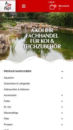 Vorschau der mobilen Webseite www.a-koi.at, A-Koi Karl Wiesbauer