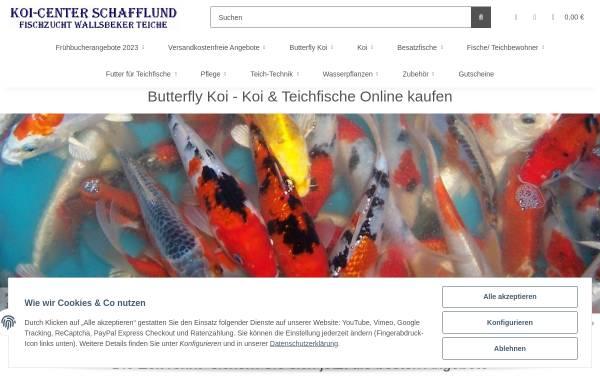 Vorschau von www.fischzucht-koicenter.de, Fischzucht Koi-Center Wallsbeker Teiche