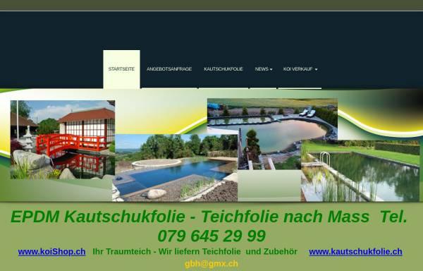 Vorschau von www.koishop.ch, Gasthof & Koi-Gartenteich, Marianne + Fritz Schär -Zuber