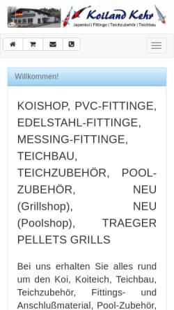 Vorschau der mobilen Webseite www.koiland-kehr-shop.de, Koiland Kehr, Anja Kehr