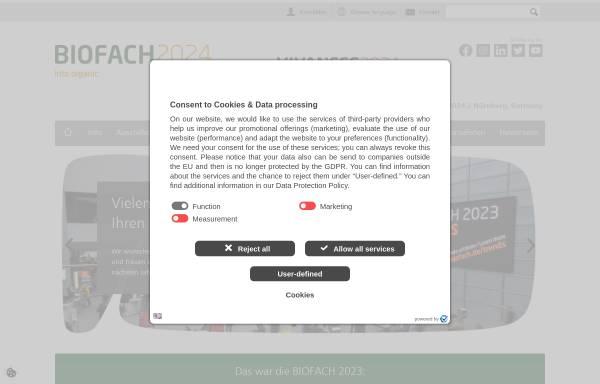 Vorschau von www.biofach.de, BioFach