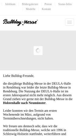 Vorschau der mobilen Webseite www.bulldog-messe.de, Bulldog-Messe und Lastorama - Peter Dorn GbR