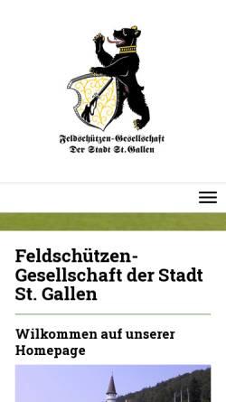 Vorschau der mobilen Webseite www.feldsg.ch, Feldschützen-Gesellschaft der Stadt St. Gallen