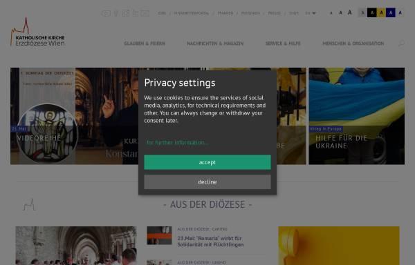 Vorschau von www.erzdioezese-wien.at, Erzdiözese Wien