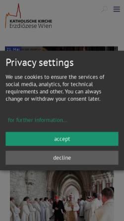 Vorschau der mobilen Webseite www.erzdioezese-wien.at, Erzdiözese Wien