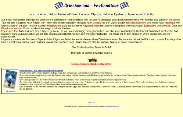 Vorschau von www.der-griechenland-katalog.de, Griechenland-Festlandtour [Beate & Detlef Dittmer]