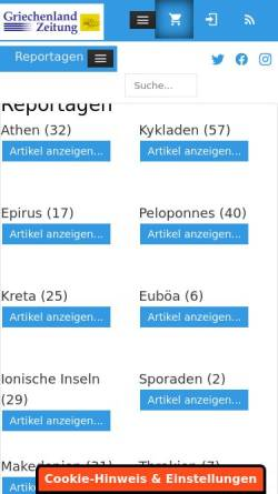 Vorschau der mobilen Webseite www.griechenland.net, Griechenland.Net