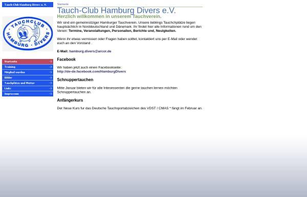 Vorschau von hamburg-divers.de, Tauch-Club Hamburg Divers e.V.