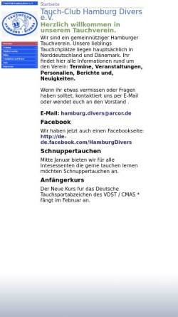 Vorschau der mobilen Webseite hamburg-divers.de, Tauch-Club Hamburg Divers e.V.
