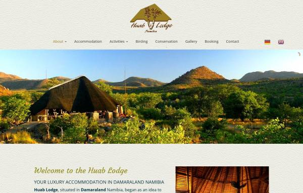 Vorschau von www.huab.com, Huab Lodge