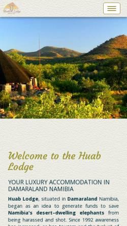 Vorschau der mobilen Webseite www.huab.com, Huab Lodge