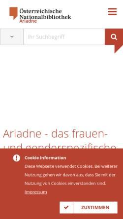 Vorschau der mobilen Webseite www.onb.ac.at, Ariadne