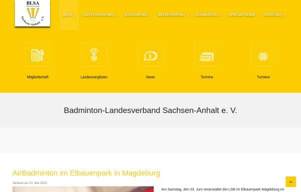 Vorschau von www.blsa.de, Badminton Landesverband Sachsen-Anhalt e.V.