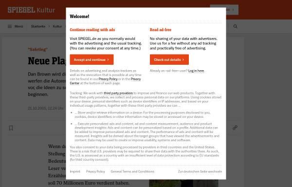 Vorschau von www.spiegel.de, Sakrileg (Spiegel.de)