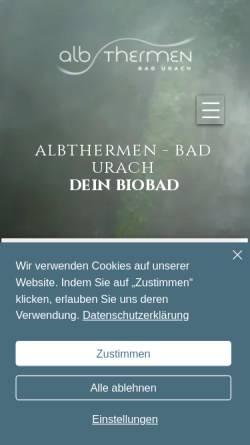 Vorschau der mobilen Webseite www.albthermen.de, Alb Thermen Bad Urach