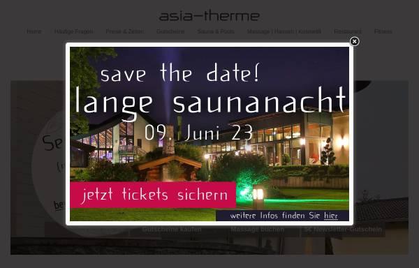 Vorschau von www.asia-therme.de, Asia-Therme Wellness-Spa GmbH