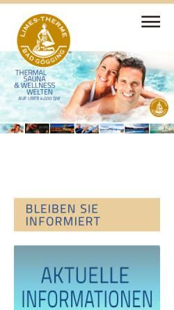 Vorschau der mobilen Webseite www.limes-therme.de, Limes-Therme Bad Gögging