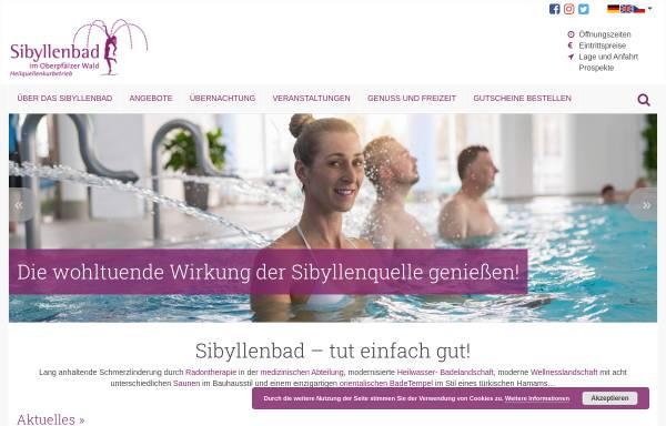 Vorschau von www.sibyllenbad.de, Sibyllenbad im Oberpfälzer Wald