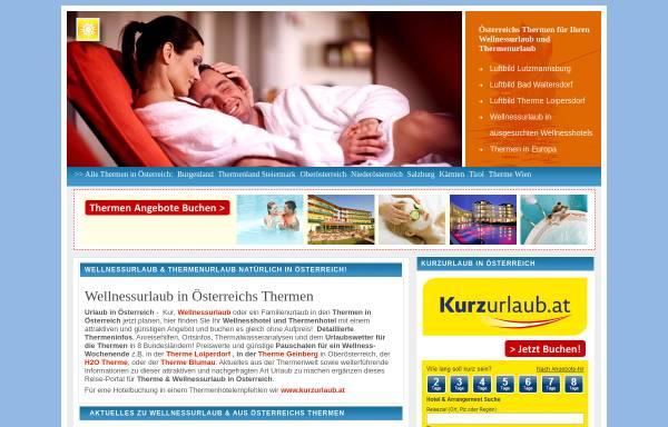 Vorschau von www.thermen.travel, Thermen in Österreich