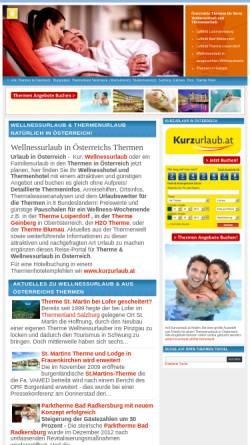Vorschau der mobilen Webseite www.thermen.travel, Thermen in Österreich