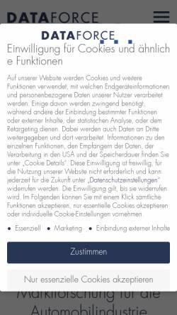 Vorschau der mobilen Webseite www.dataforce.de, Dataforce Verlagsgesellschaft für Business Information mbH